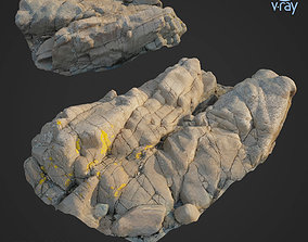 VR / AR ready 3d scanned rock cliff G