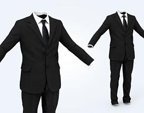 muscular 3D asset VR / AR ready Business Suit Man