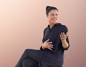 Diana 10563 - Business Woman Sitting Talking And 3D asset