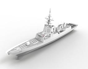 Destroyer ship 3d printed hobart class