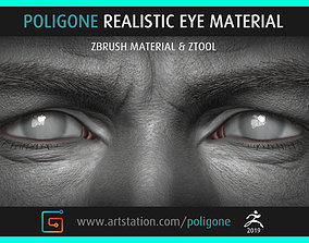 3D Poligone Realistic Eye Material