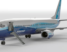 Boeing 737-800 Factory Low-Poly 3D model