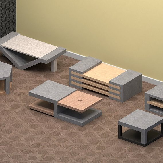 Concrete & Wood Coffee Tables