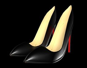 3D asset High Heel 01 Without Sign