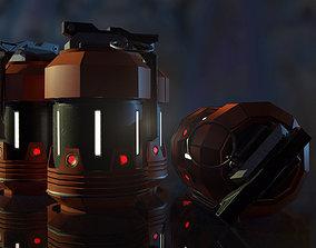 Scifi Frag Granade 3D model