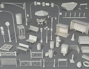 3D Street Elements - Part - 2 - 39 pieces