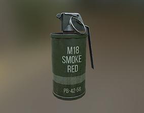 3D model M-18 Smoke Grenade USA Midpoly PBR