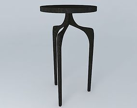 3D Tall Skinny Side Table