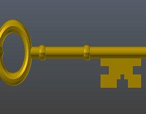Low poly Classic Key 3D asset