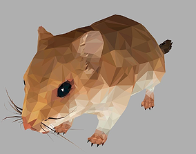 Sand Mouse Low Polygon Art Animal maus 3D model