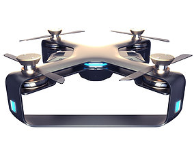 Concept Racing drone vray 3d model animated