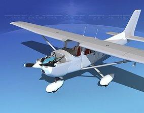 3D Cessna 172 Skyhawk 1976 White Livery