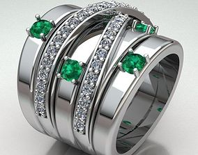 women-ring-sapphire Jewelry Ring Women 3D printable model