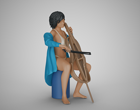 3D printable model Woman Playing Cello