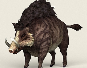 3D asset Game Ready Fantasy Boar