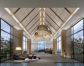 3D model chinese hotel lobby