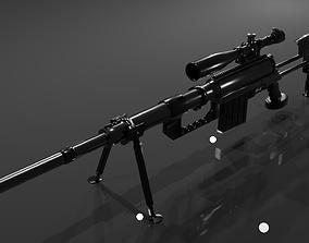 3D model CheyTac M200 Intervention Sniper Rifle