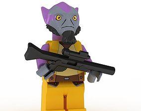 3D LEGO Minfigure Zeb Orrelios