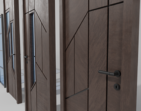 3D asset realtime 5 Doors Collection