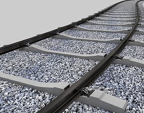 3D Realistic Railroad Module Set transport