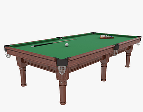 Classic pool table 3D