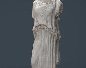 3D asset Caryatid Column Statue