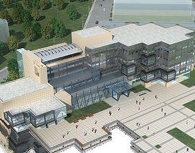 School Building urban 3D