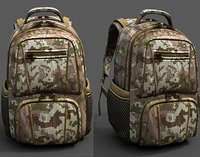 Backpack Camping Generic military human bag 3D asset