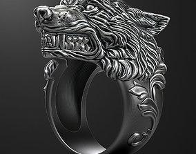 Wolf ring 3D printable model