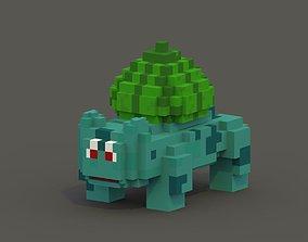 Bulbasaur Voxel Model game-ready