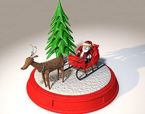 3D printable model santa claus winter