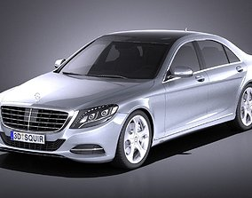 3D model Mercedes-Benz S-class 2016 VRAY