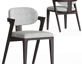 Adam Court Upholstered Dining Chair westelm 3D model