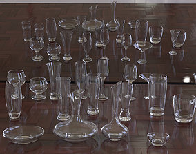 3D model glassware collection