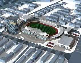 3D model Soccer Stadium 005