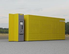 3D asset Packstation Object -7- Huge Packstation with 1