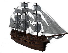 3D model sail Pirate Ship