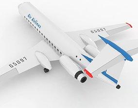 TU 134 Airplane Stylized lowpoly 3D asset