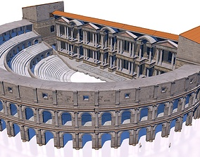 3D classical roman theater