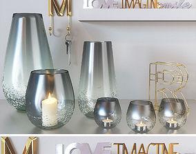 Decorative candles 4 3D