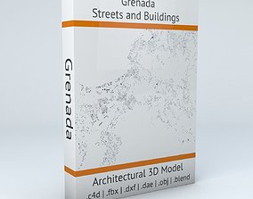 3D model Grenada Streets and Buildings streets