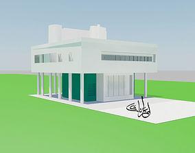 3D asset Villa Savoye le corbusier