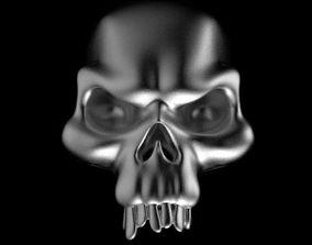 3D print model skull ring jewelry jaw