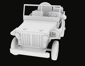 Jeep World War II 1942 OBJ FBX 3D printable model