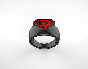 3D printable model Red Son Superman Ring