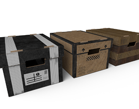 3D model Stationary Storage Boxes