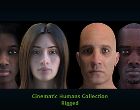 3D Cinematic Humans - Rigged