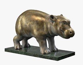 3D asset Hippo Sculpture