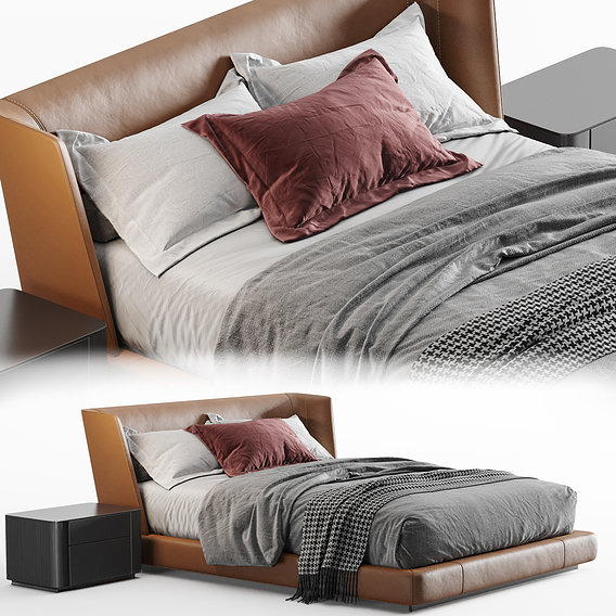 minotti Reeves Bed