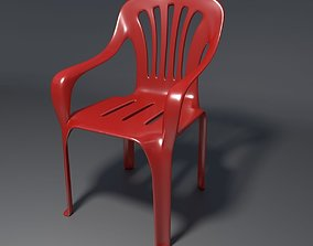 Plastic Chair - 1 - a 3D model